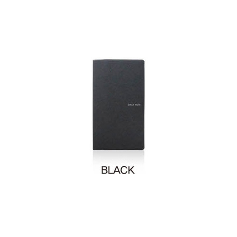 Black - Fenice Premium business PU soft cover small dotted notebook