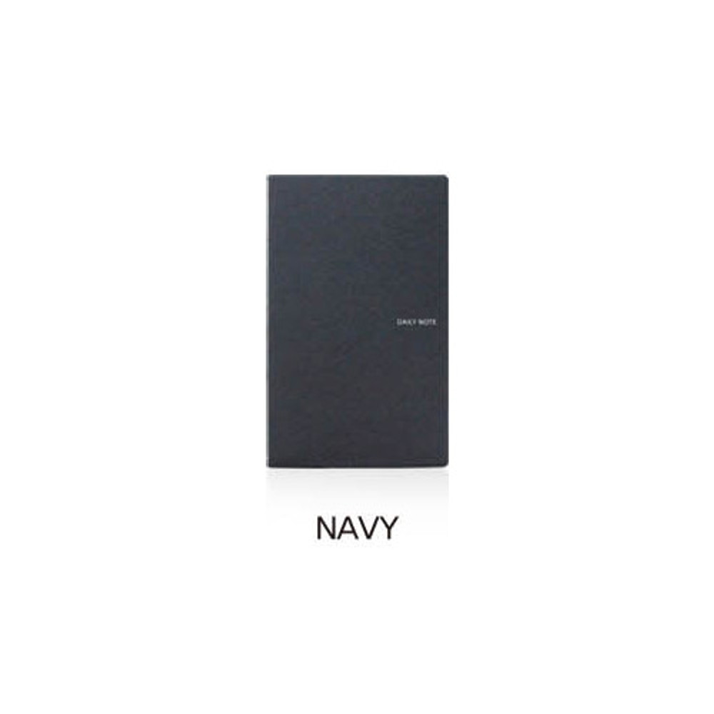 Navy - Fenice Premium business PU soft cover medium dotted notebook