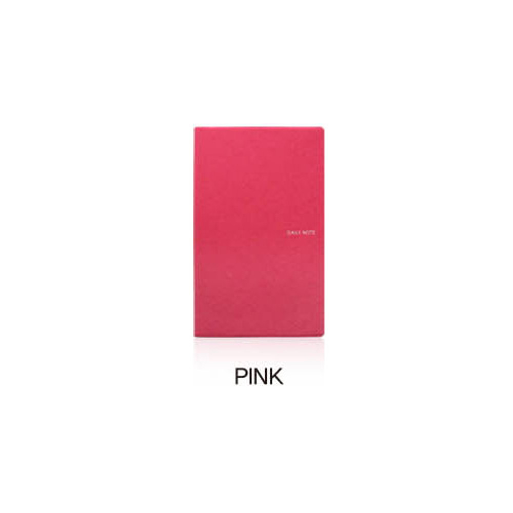 Pink - Fenice Premium business PU soft cover medium dotted notebook