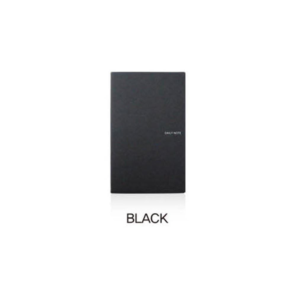 Black - Fenice Premium business PU soft cover medium dotted notebook