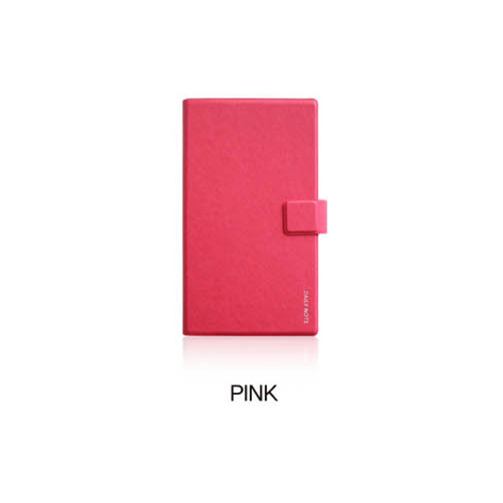 Pink - Fenice Premium business PU cover small dotted notebook