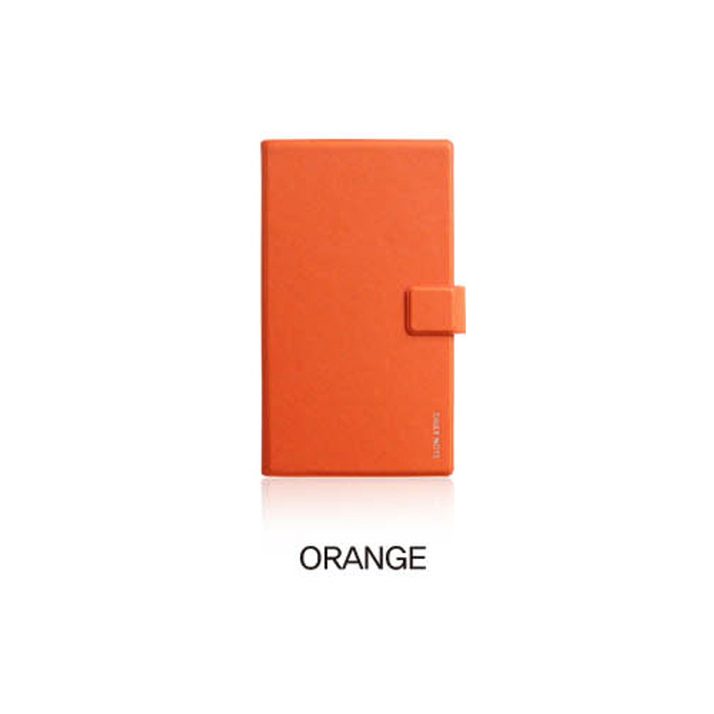 Orange - Fenice Premium business PU cover small dotted notebook