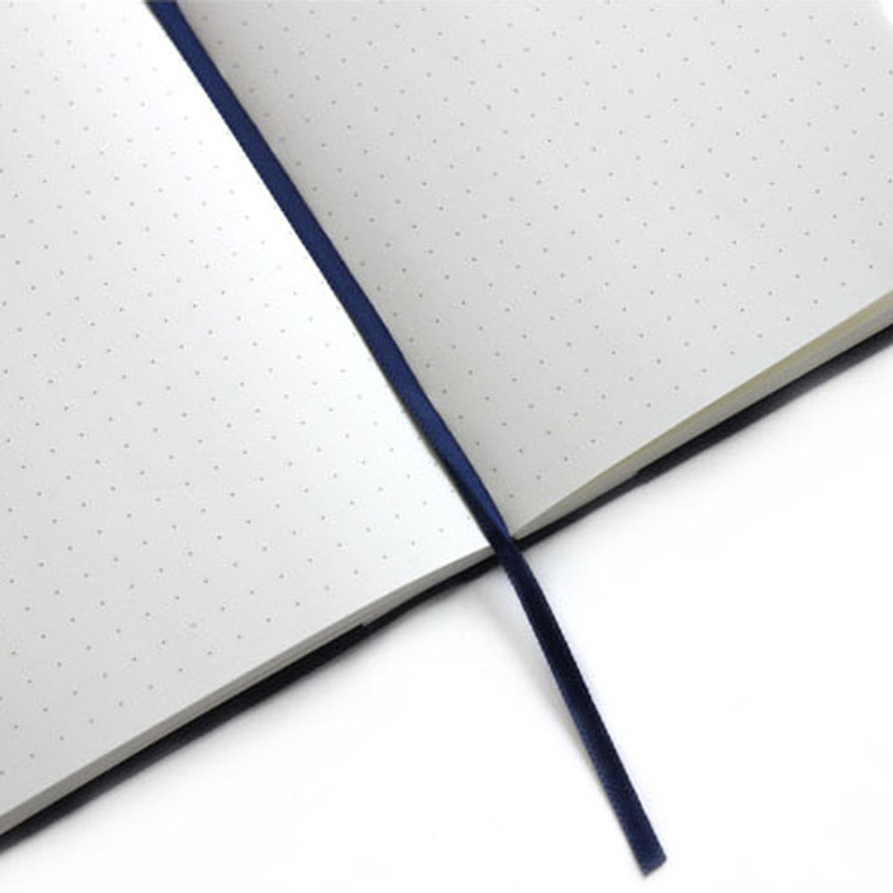 Ribbon bookmark - Fenice Premium business PU cover small dotted notebook