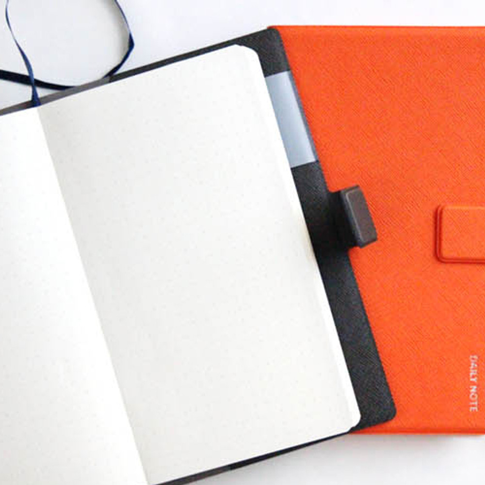 Example of use - Fenice Premium business PU cover small dotted notebook