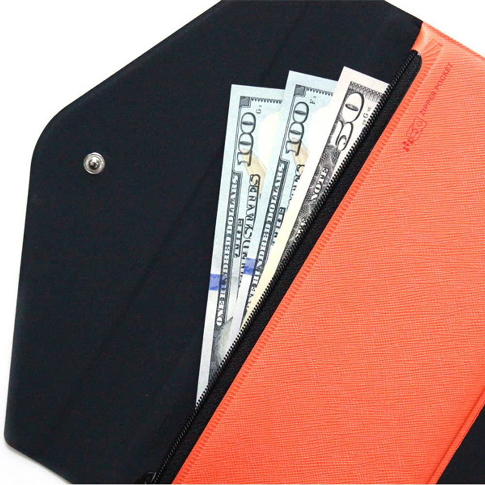 Example of use - Fenice Premium PU large passport case holder zipper wallet