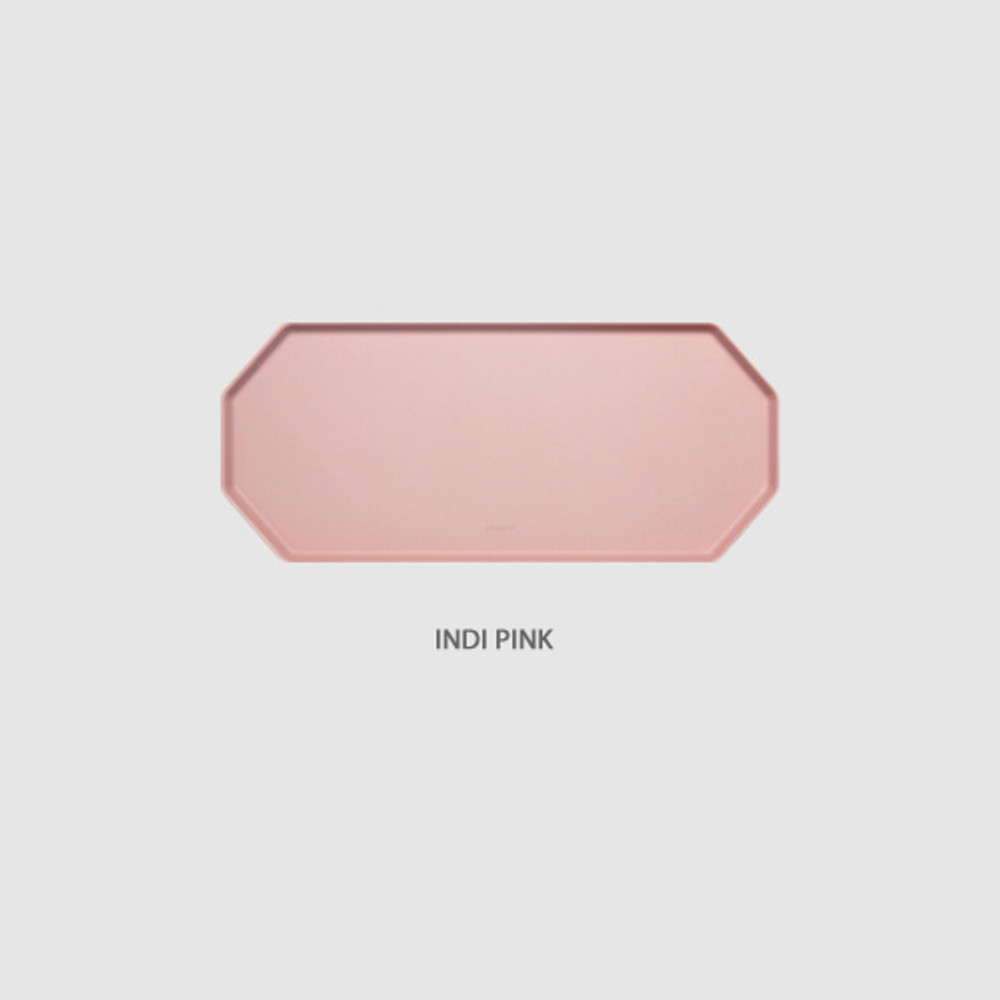 Indi pink - Fenice Premium PU leather decorative serving octagon tray
