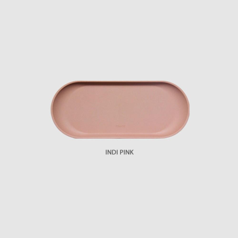 Indi pink - Fenice Premium PU leather decorative serving ellipse tray