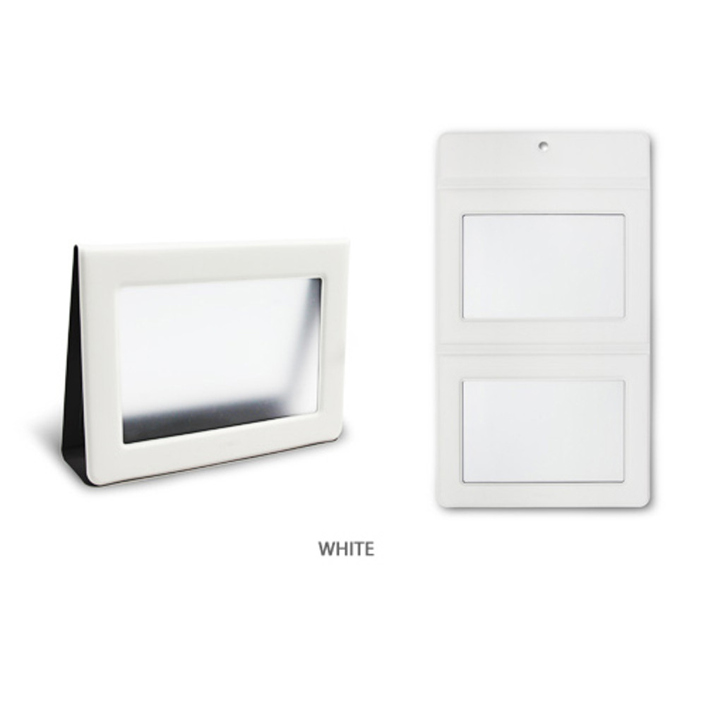 White - Fenice Premium PU leather two ways magnetic picture frame