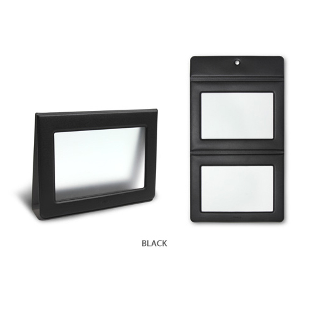 Black - Fenice Premium PU leather two ways magnetic picture frame