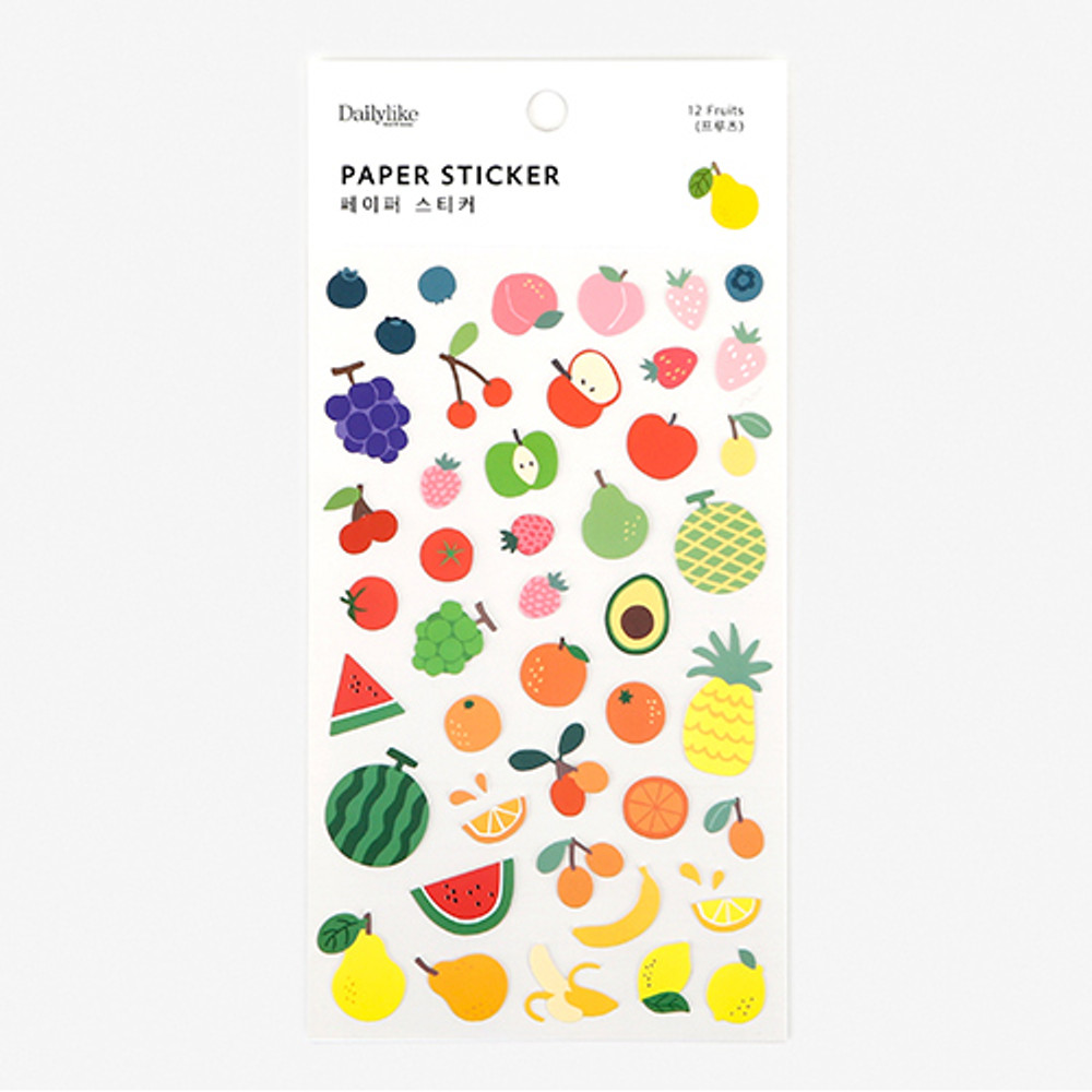 Dailylike For your heart paper adhesive sticker - Fruits