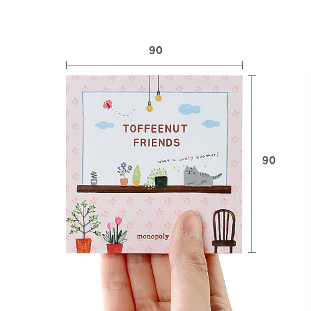 Size - Monopoly Toffeenut sweet and warm illustration memo notepad