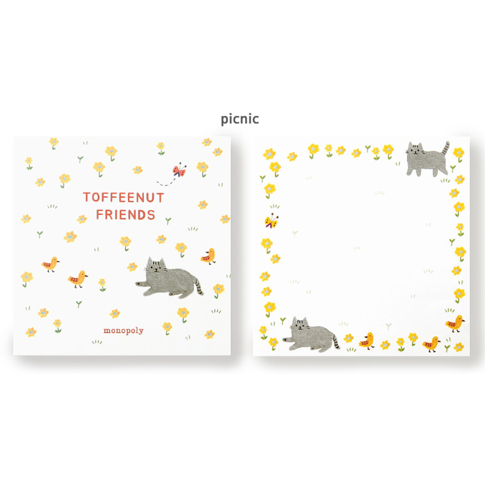 Picnic - Monopoly Toffeenut sweet and warm illustration memo notepad
