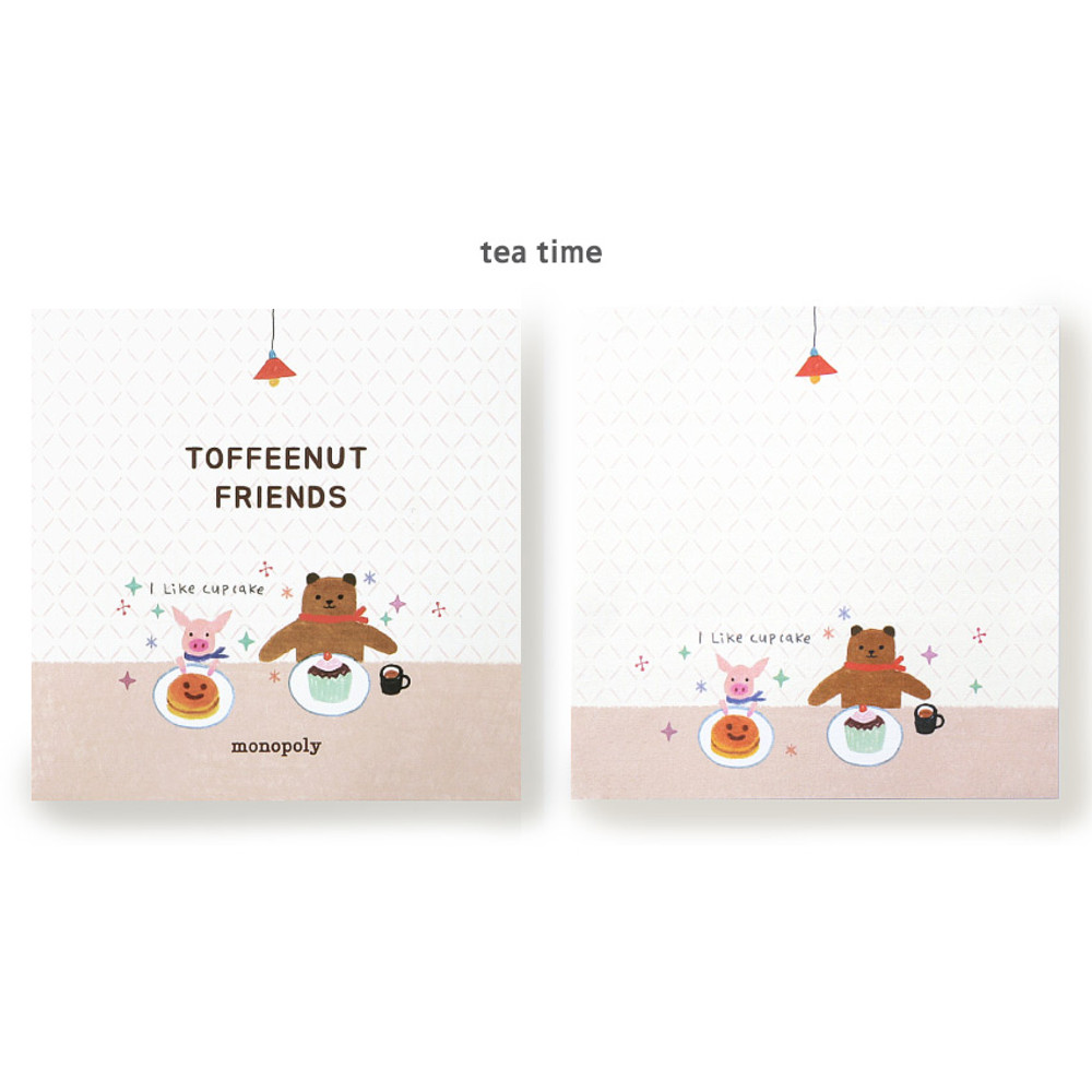 Tea time - Monopoly Toffeenut sweet and warm illustration memo notepad