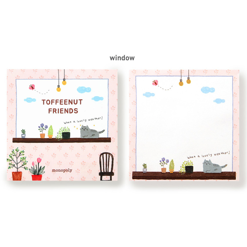Window - Monopoly Toffeenut sweet and warm illustration memo notepad