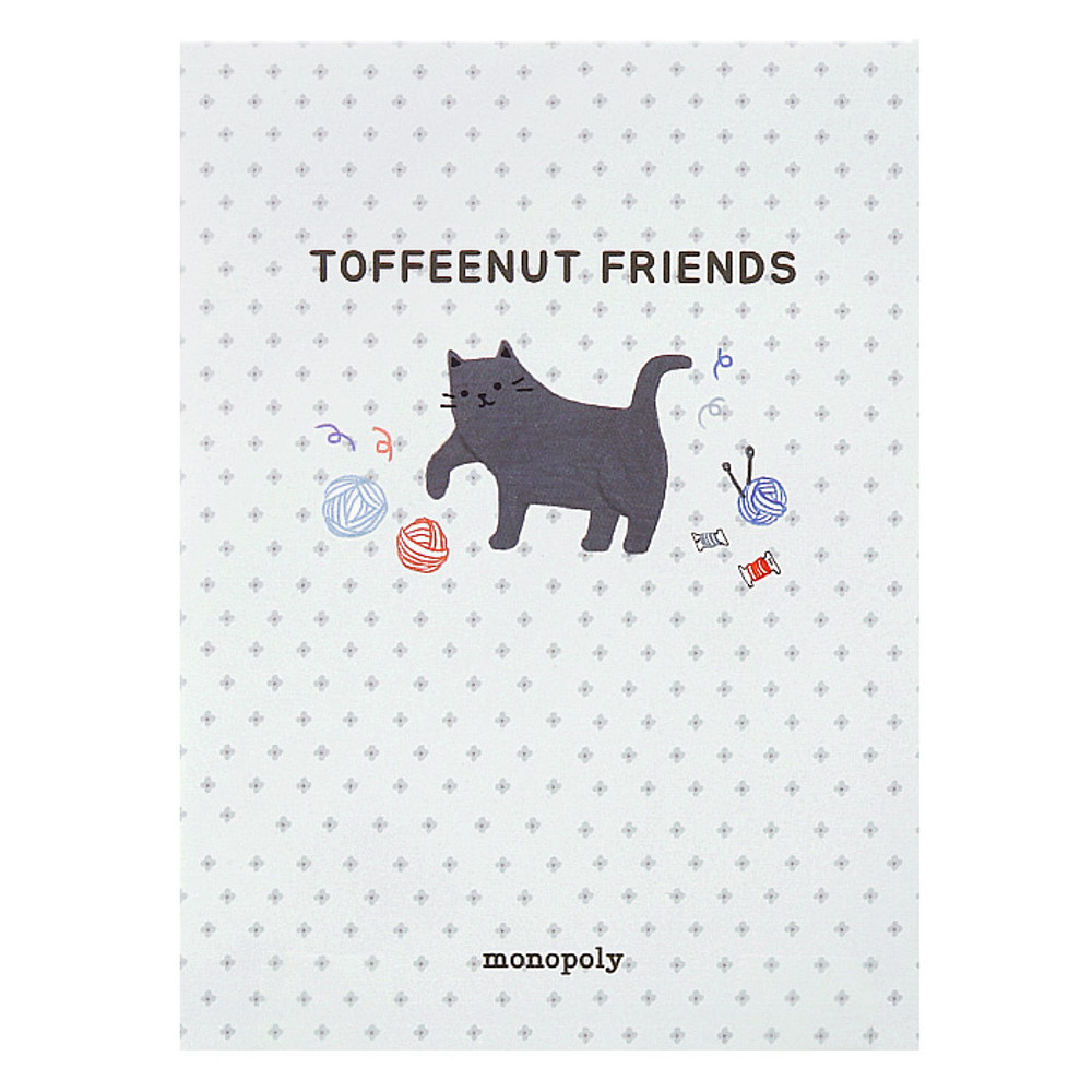 Monopoly Toffeenut sweet and warm illustration letter memo notepad