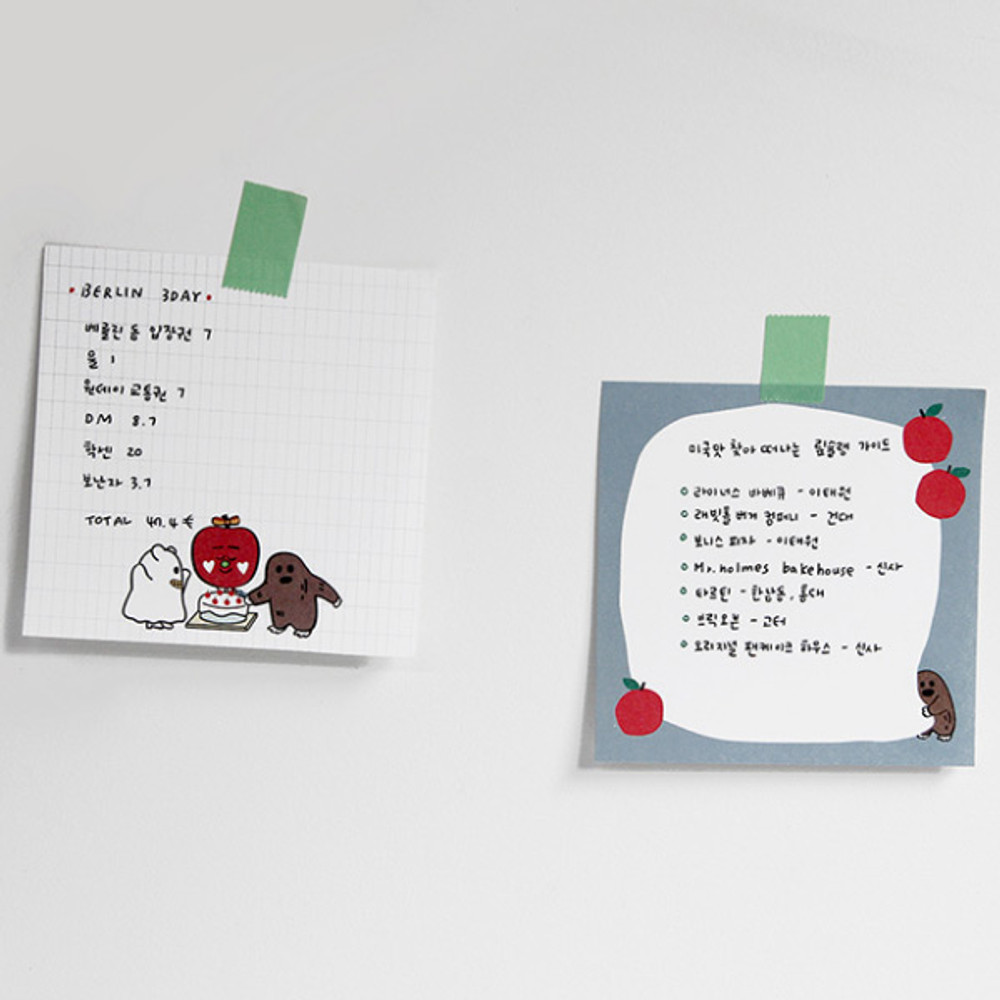 Example of use - Gunmangzeung Ghost pop memo writing notepad