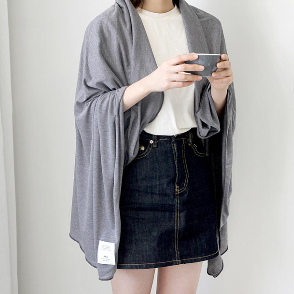 Charcoal - Gunmangzeung Oui around'D fabric summer blanket ver3