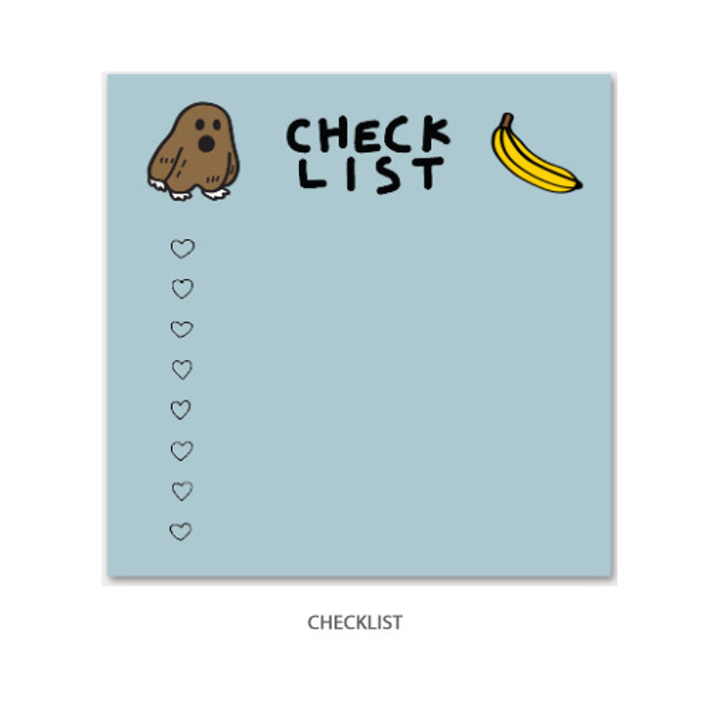 Checklist - Gunmangzeung Ghost pop checklist memo planner notepad