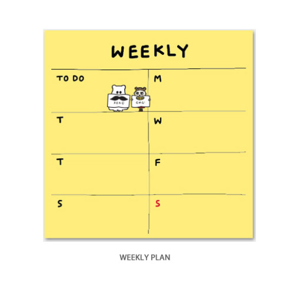 Weekly plan - Gunmangzeung Ghost pop checklist memo planner notepad