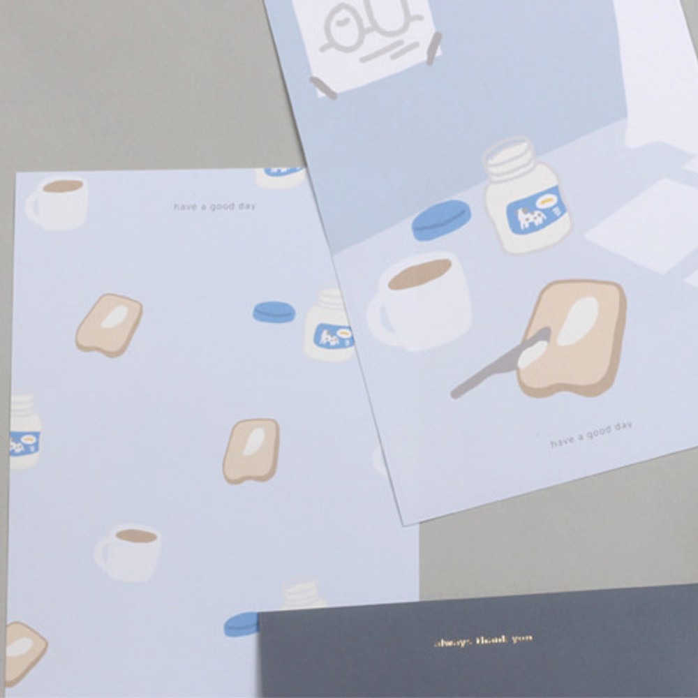 Have a good day - My illustration letter always thank you envelope set