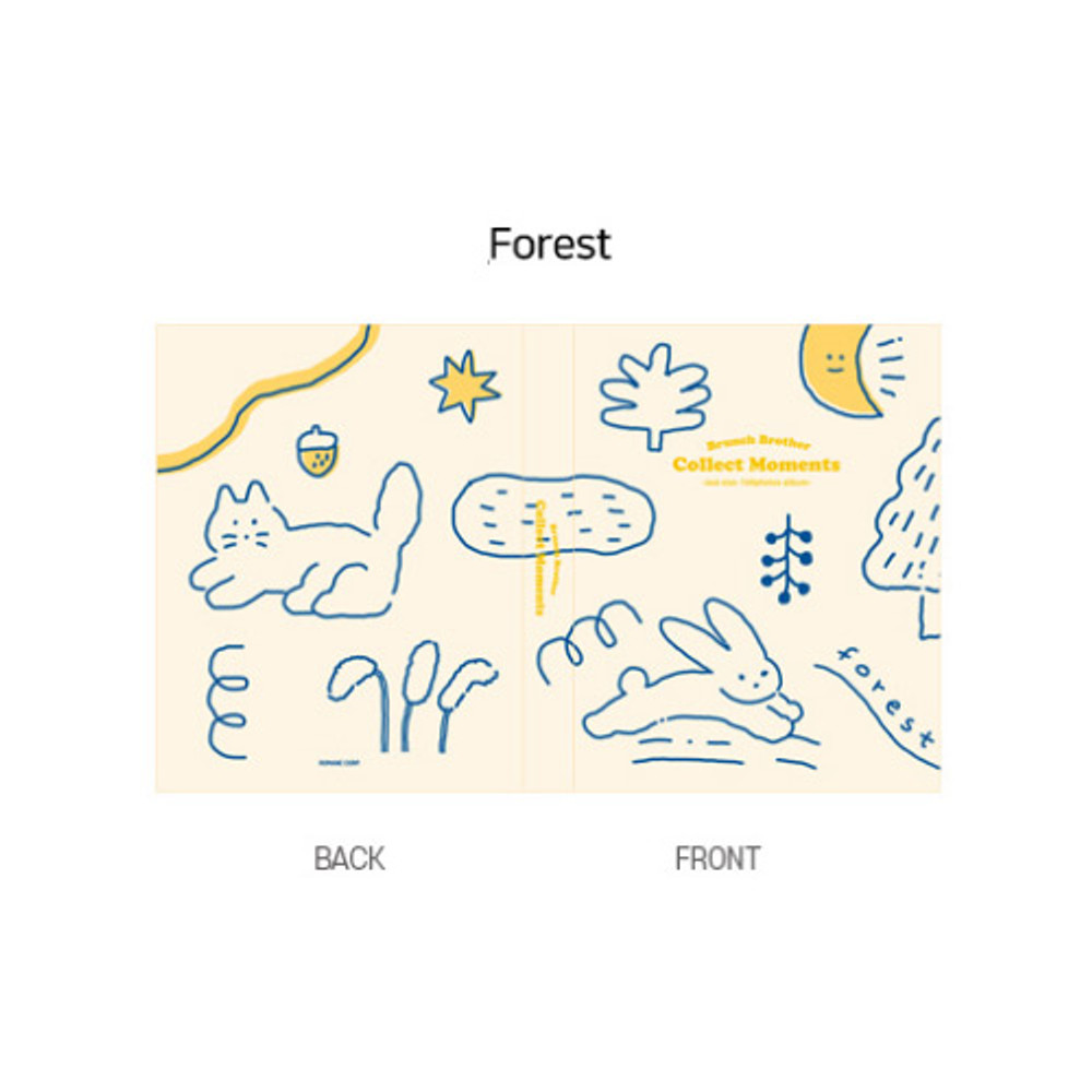 Forest - ROMANE Brunch brother 4X6 slip in pocket photo album