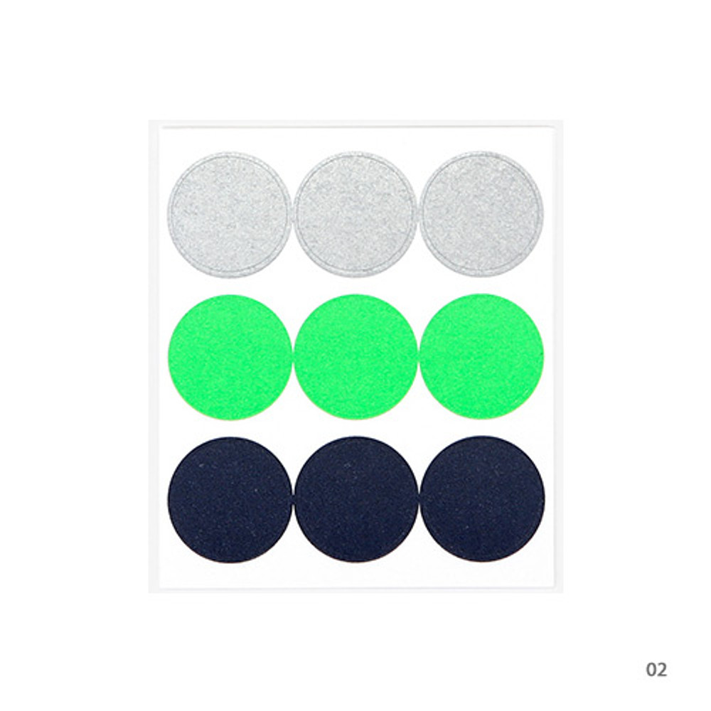 02 - Dailylike Color 22mm circle deco sticker 4 sheets