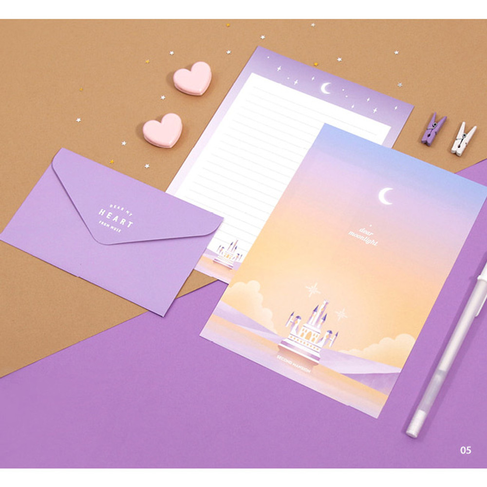 05 - Second Mansion Moonlight letter paper envelope set ver2