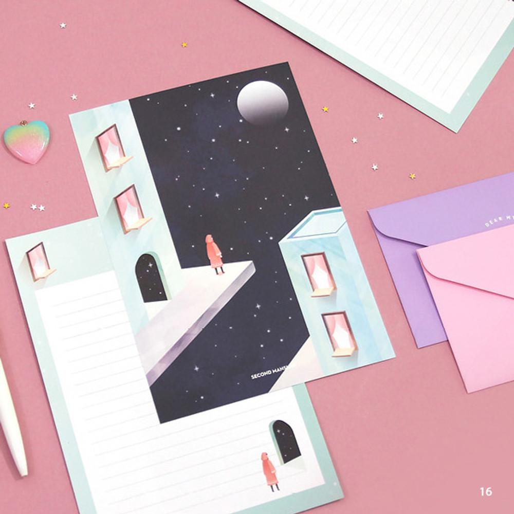 16 - Second Mansion Moonlight letter paper envelope set ver2