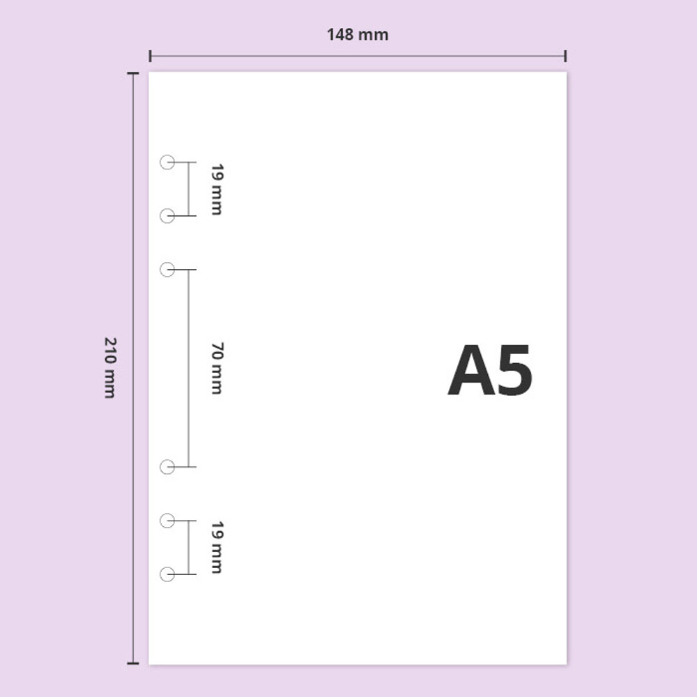 Size - Second Mansion Moonlight 6-ring A5 size grid notebook