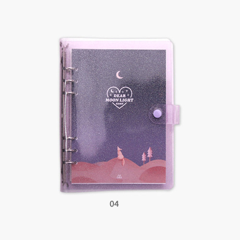 04 - Second Mansion Moonlight 6-ring A5 size grid notebook