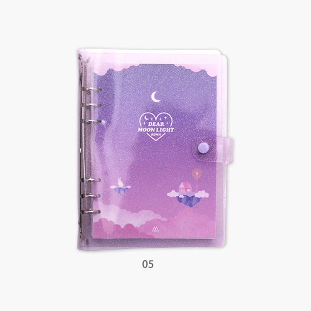 05 - Second Mansion Moonlight 6-ring A5 size grid notebook
