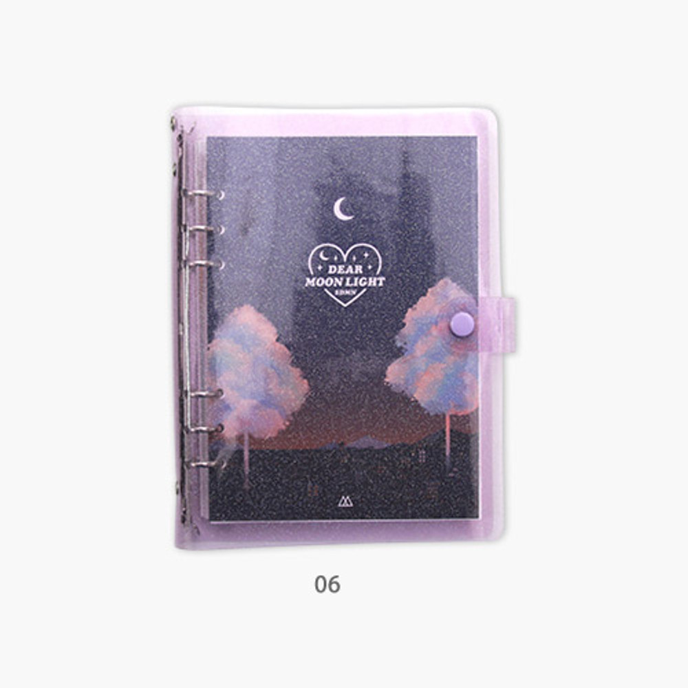 06 - Second Mansion Moonlight 6-ring A5 size grid notebook