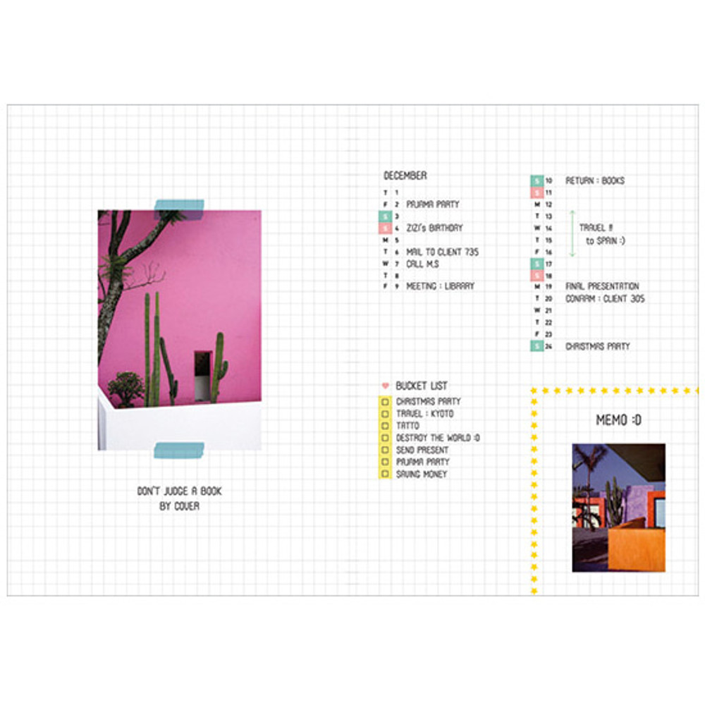 Grid pages - Second Mansion Moonlight 6-ring A5 size grid notebook