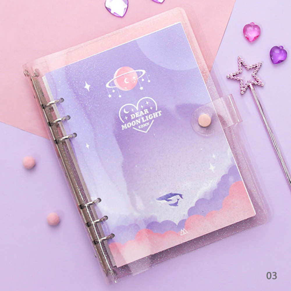 03 - Second Mansion Moonlight 6-ring A5 size grid notebook
