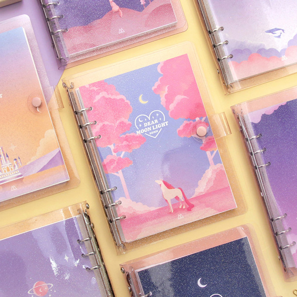Second Mansion Moonlight 6-ring A5 size grid notebook