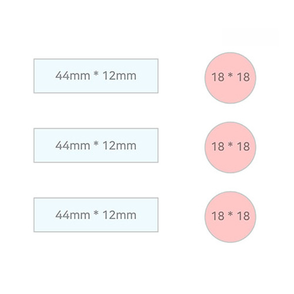 Size - PLEPLE Simple and basic sticky it bookmark memo notepad set