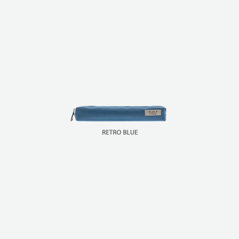 Retro blue - Byfulldesign Oxford single zipper pencil case pouch ver4