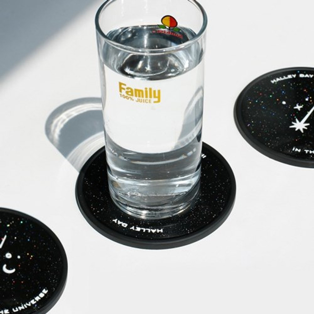 Example of use - After The Rain 90s coolkids party PVC twinkle drink coaster