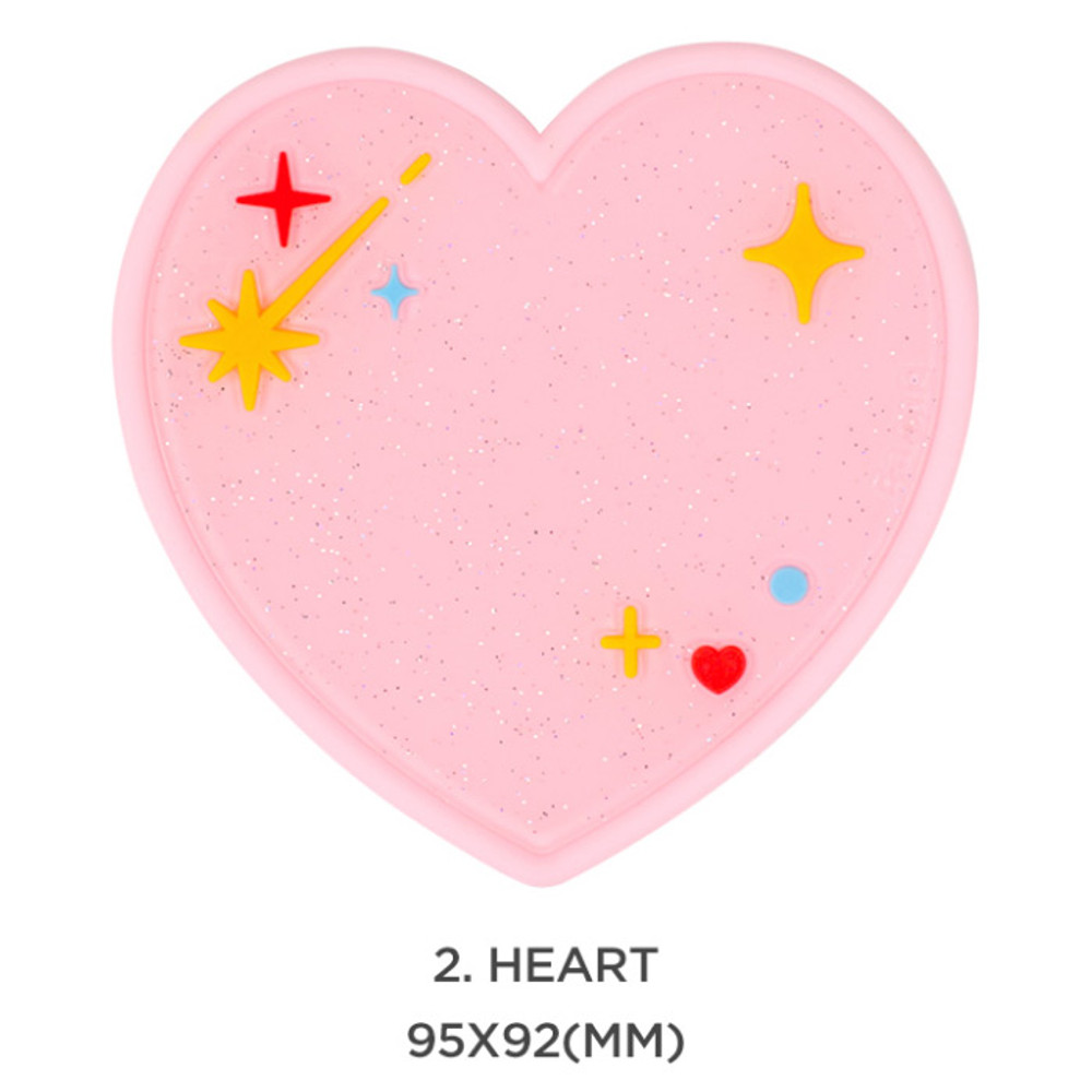 Heart - After The Rain 90s coolkids party PVC twinkle drink coaster