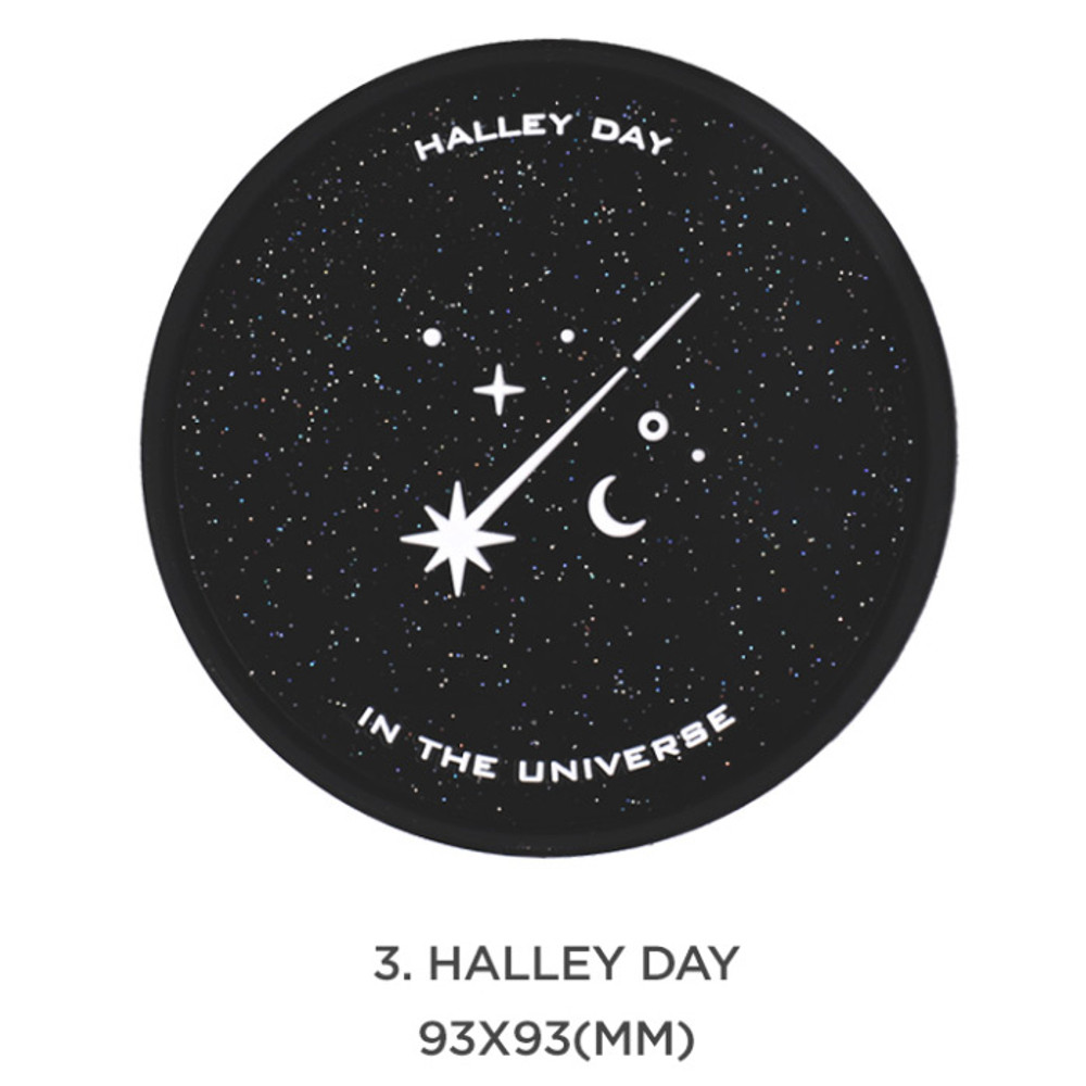 Halley day- After The Rain 90s coolkids party PVC twinkle drink coaster
