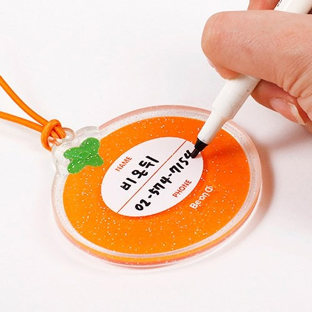 Example of use - 90s coolkids party fake food travel luggage name tag
