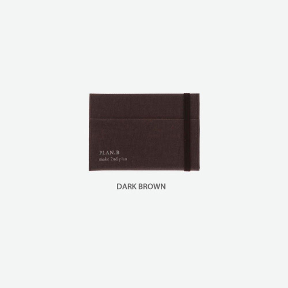 Dark brown -Byfulldesign Oxford palm flat card case wallet
