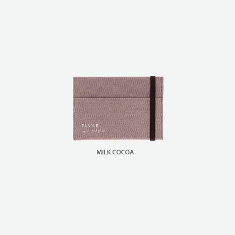 Milk cocoa - Byfulldesign Oxford palm flat card case wallet
