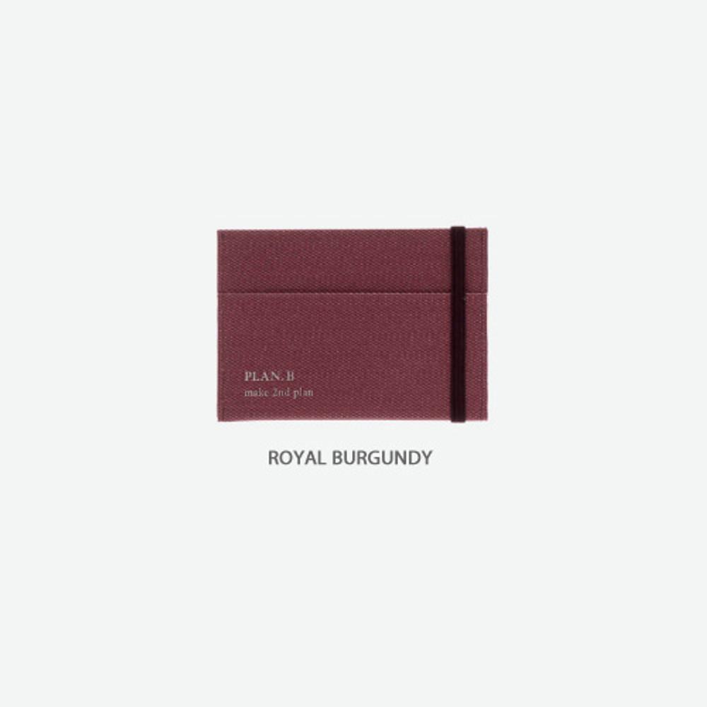 Royal burgundy -Byfulldesign Oxford palm flat card case wallet
