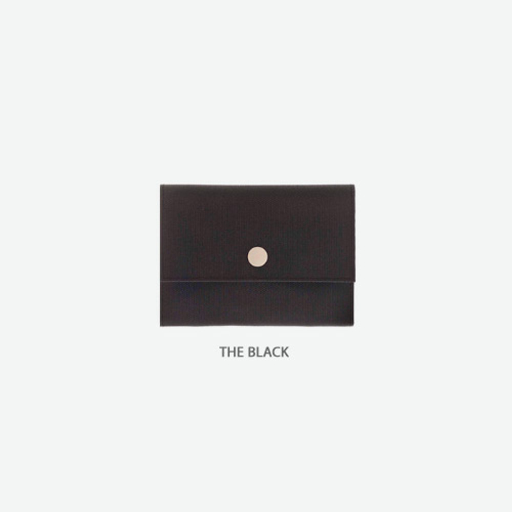 The black - Byfulldesign Oxford palm small pouch card wallet