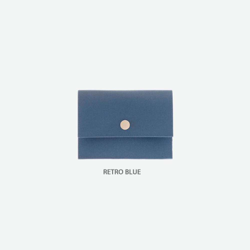Retro blue - Byfulldesign Oxford palm small pouch card wallet