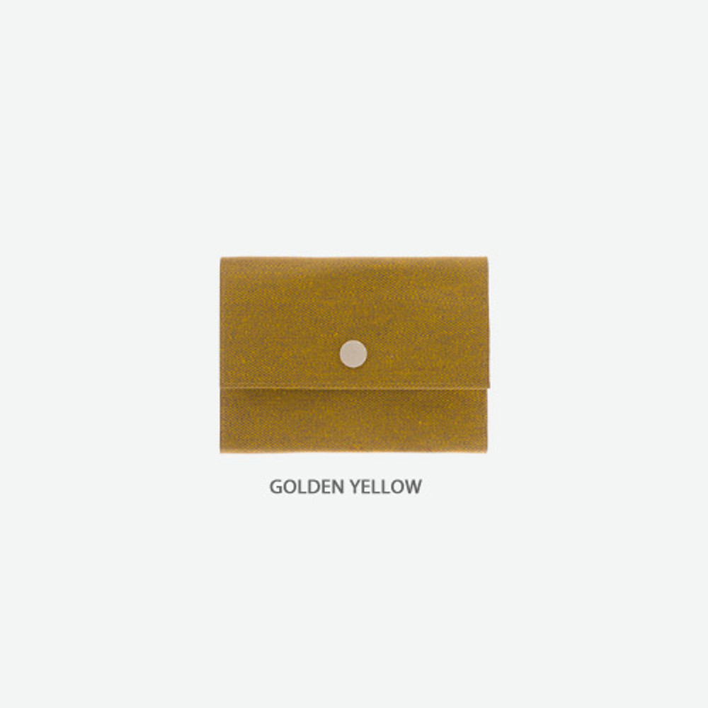 Golden yellow - Byfulldesign Oxford palm small pouch card wallet