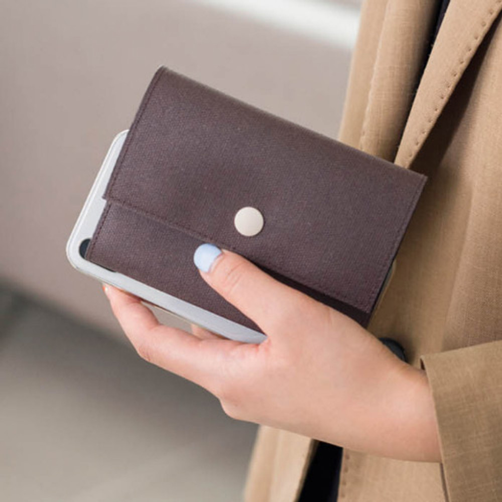 Example of use - Byfulldesign Oxford palm small pouch card wallet