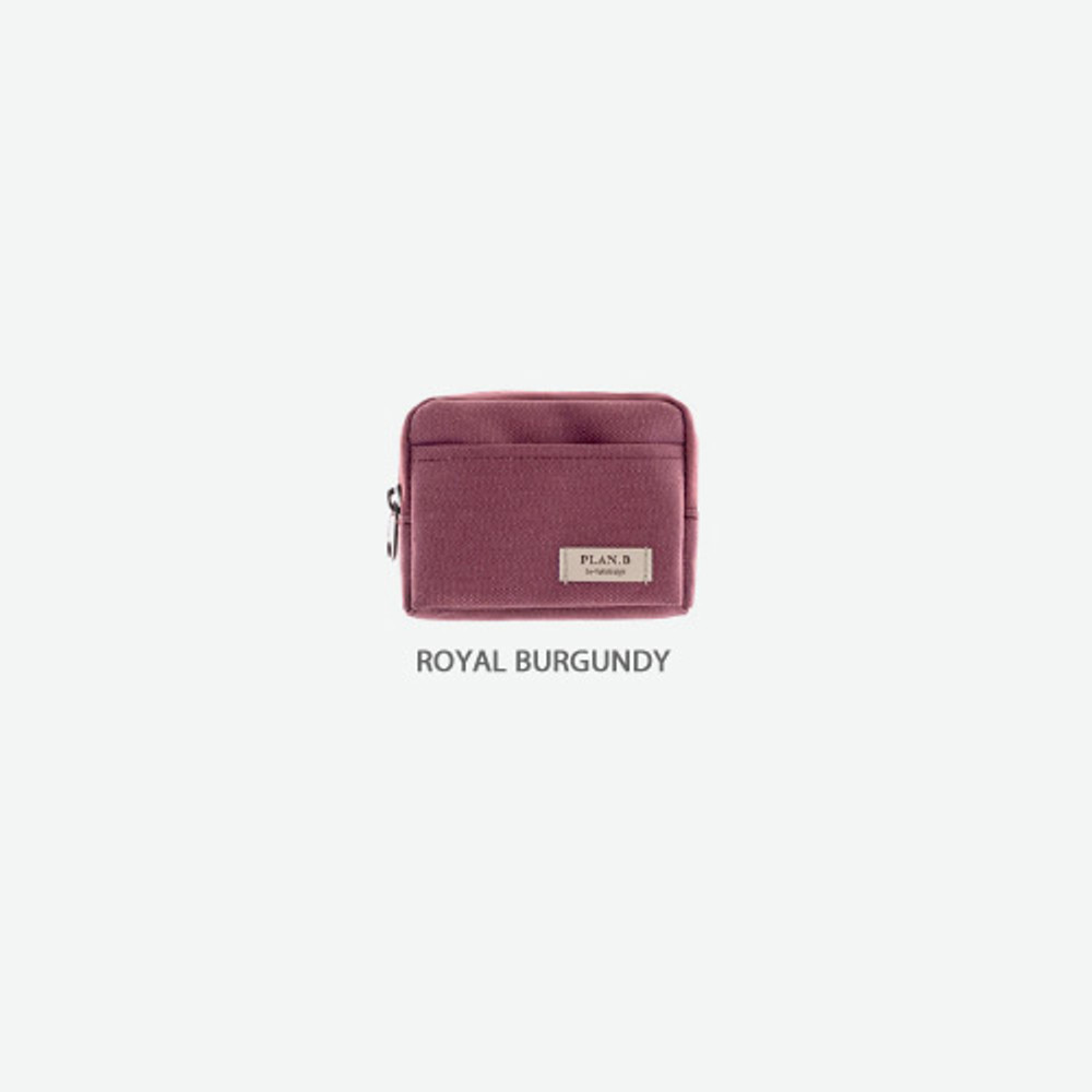 Royal burgundy - Byfulldesign Oxford multi small pocket zipper pouch ver2