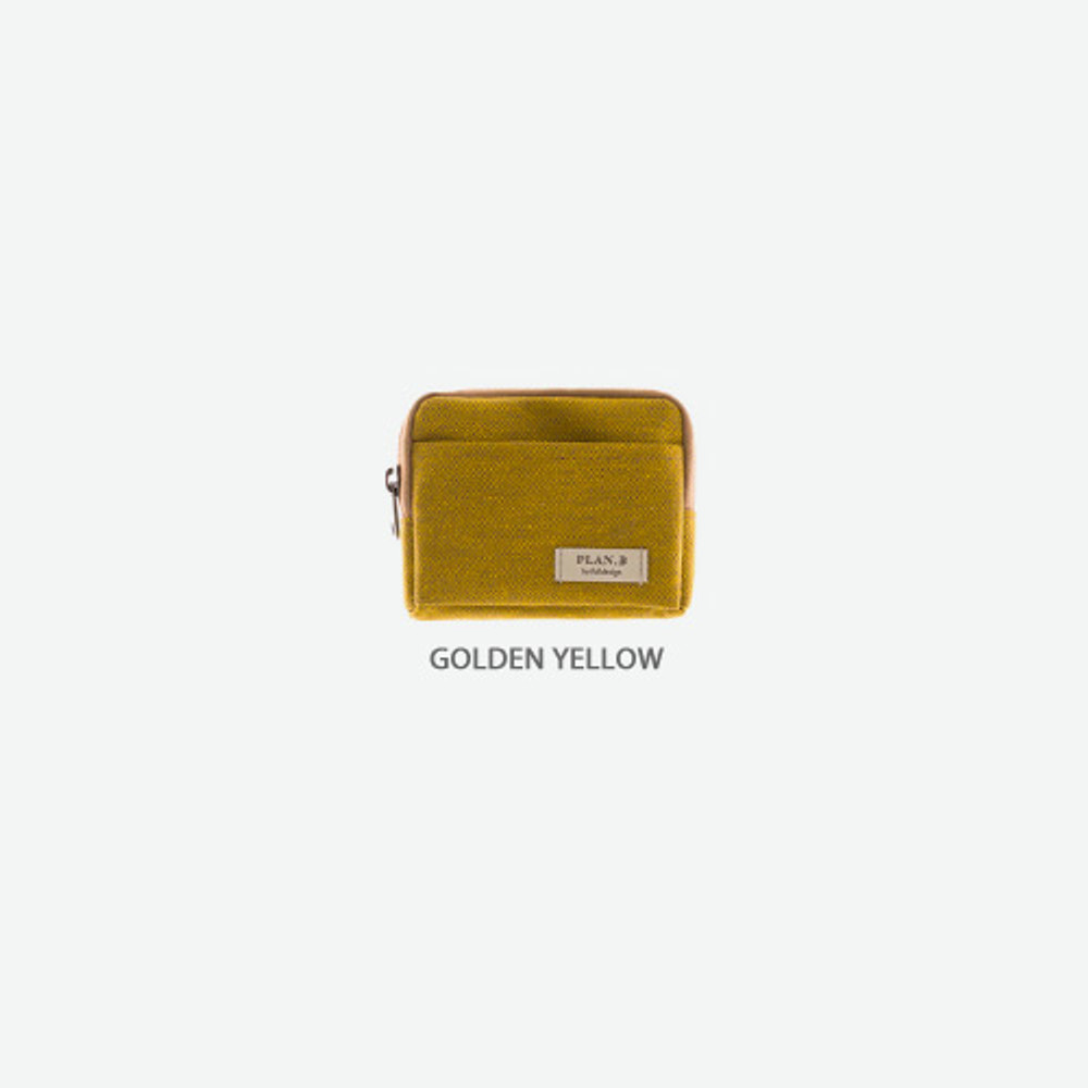 Golden yellow - Byfulldesign Oxford multi small pocket zipper pouch ver2